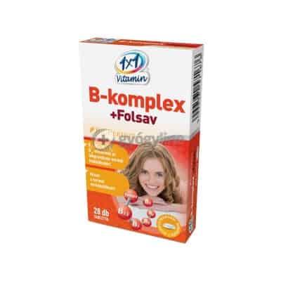 1x1 Vitaday B-komplex+folsav+ bioperin tabletta 28 db