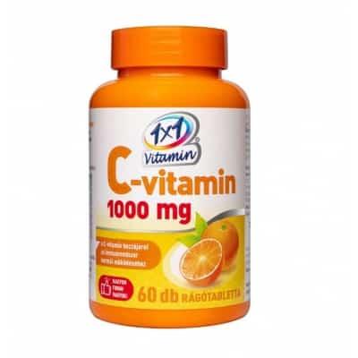 1x1 Vitaday C-vitamin 1000 mg narancs rágótabletta, 60 db