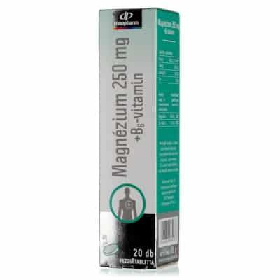 Innopharm magnézium 250 mg + B6 barackízű pezsgőtabletta 20 db