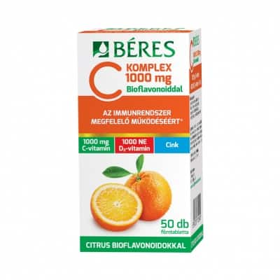 Béres C komplex 1000 mg c-vitamin, D3 és cink filmtabletta 50 db