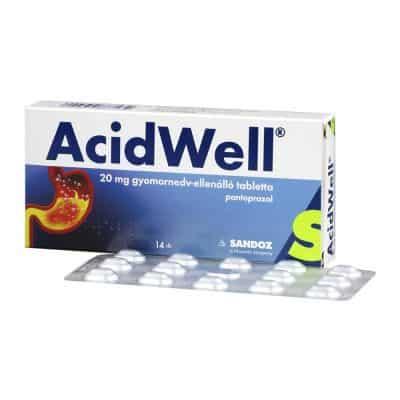 Acidwell 20 mg tabletta 14 db