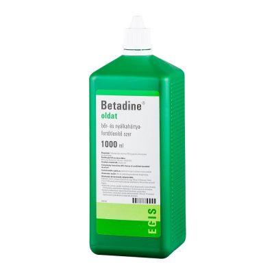 Betadine bőr- és nyálkahártya fertőtlenítő oldat 1000 ml