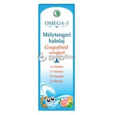 Dr. Chen omega-3 mélytengeri halolaj grapefruit sziruppal 500 ml