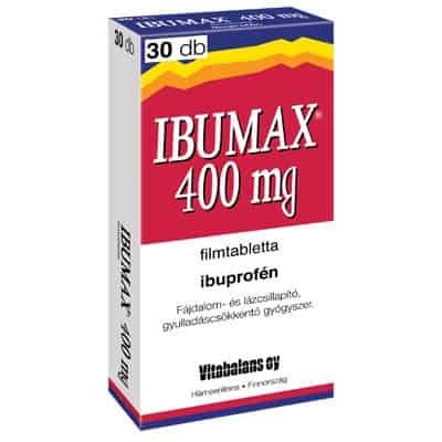Ibumax 400mg filmtabletta 30 db