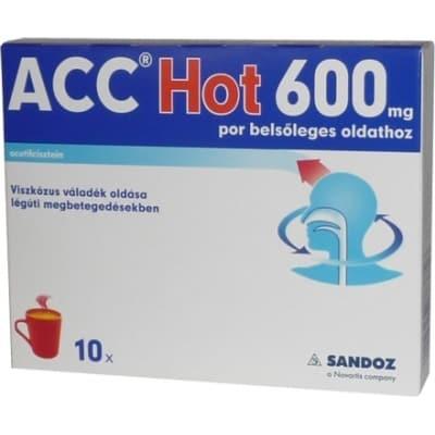 ACC Hot 600 mg por belsőleges oldathoz forró ital 10 db