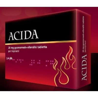 Acida 20mg gyomornedv-ellenálló tabletta 14 db