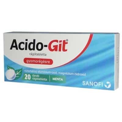 Acido-Git rágótabletta 20 db