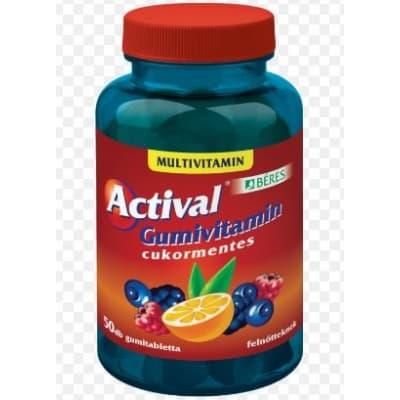Béres actival gumivitamin felnőtteknek 50 db