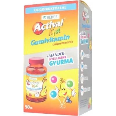 Béres actival kid gumivitamin 50 db intelligens gyurmával