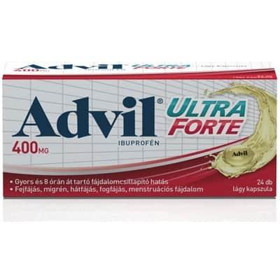 Advil ultra forte fájdalomcsillapító lágyzselatin kapszula 24 db