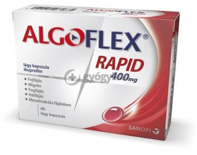 Algoflex Rapid 400 mg lágy kapszula 10 db