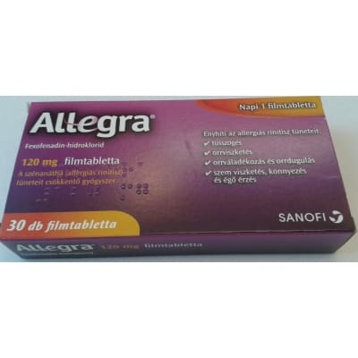 Allegra 120 mg filmtabletta allergiára 30 db