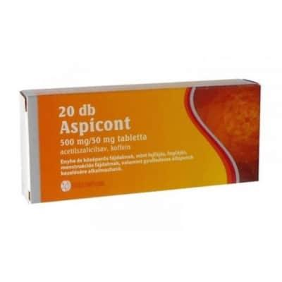 Aspicont 500 mg/50 mg tabletta 20 db