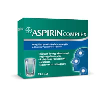 Aspirin komplex 500mg/30mg granulátum 20 db
