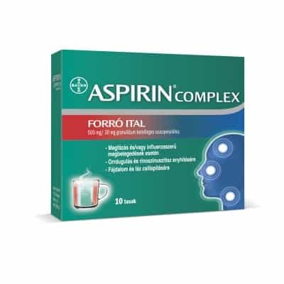 Aspirin complex forró ital granulátum 10 db