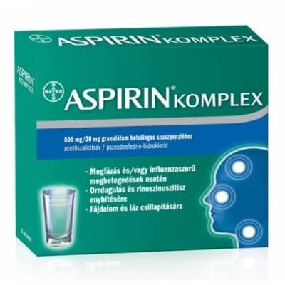 Aspirin komplex 500mg/30mg granulátum 10 db