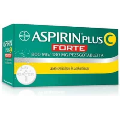 Aspirin Plus C Forte 800 mg/480 mg pezsgőtabletta 20 db