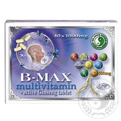 Dr. Chen B-max multivitamin aktív ginseng tabletta 40 db