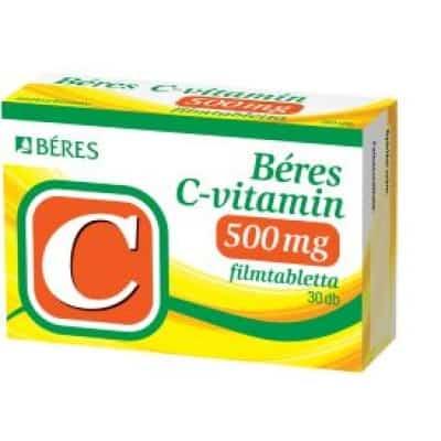 Béres C-vitamin 500 mg filmtabletta 30 db