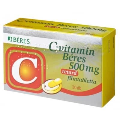 Béres C-vitamin 500 mg retard filmtabletta 30 db