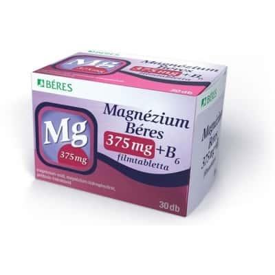Béres magnézium 375mg+B6 vitamin filmtabletta 30 db