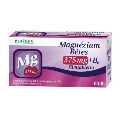Béres magnézium 375mg+B6 vitamin filmtabletta 60 db