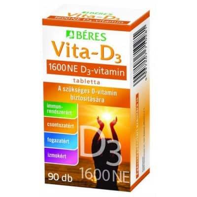 Béres vita-D3-vitamin 1600 NE filmtabletta 90 db