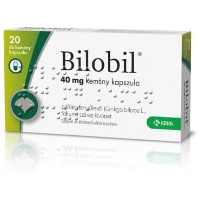 Bilobil 40 mg kemény kapszula 20 db
