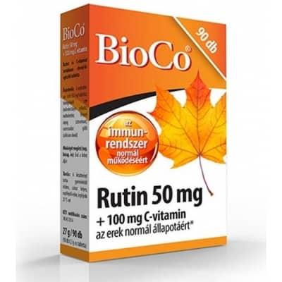 Bioco rutin 50 mg + C-vitamin 100 mg tabletta 90 db