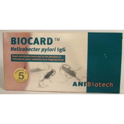 Biocard helicobacter pylori teszt IgG 1 db