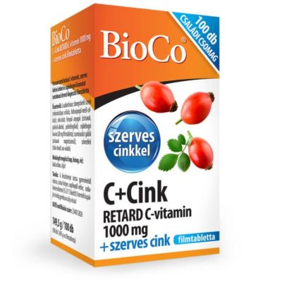 Bioco C + cink retard 1000 mg + szerves cink családi csomag 100 db