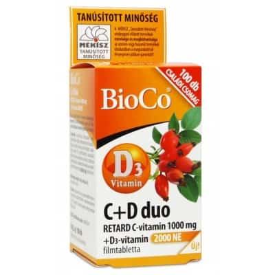 Bioco C+D duo C-vitamin 1000 mg + D3-vitamin 100 db