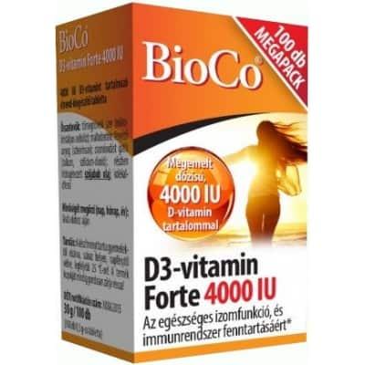 BioCo D3-vitamin Forte 4000 IU Megapack, 100 db