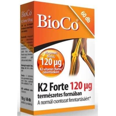 BioCo K2 Forte 120 µg tabletta 60 db
