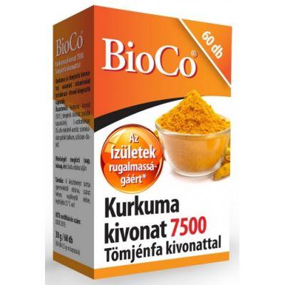 BioCo Kurkuma kivonat 7500 Tömjénfa kivonattal 60 db