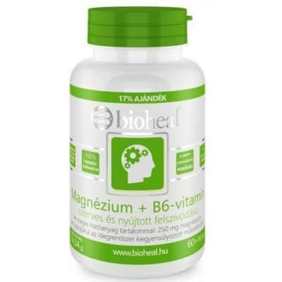 Bioheal magnézium + B6-vitamin szerves nyújtott felszívódású tabletta 70 db