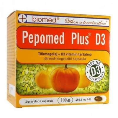 Biomed pepomed plus D3 lágyzselatin-kapszula 100 db