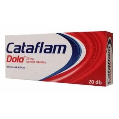Cataflam dolo 25 mg láz és fájdalomcsillapító<br> bevont tabletta 20 db