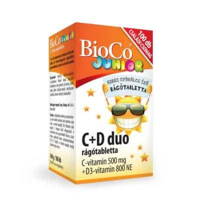Bioco junior C+D Duo rágótabletta 100 db