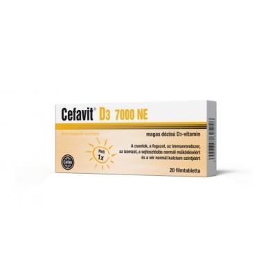 Cefavit D3 7000 Ne filmtabletta 20 db