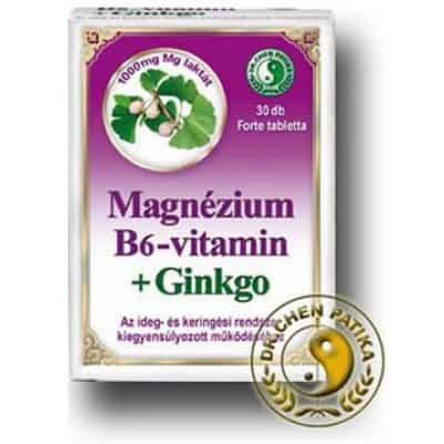 Dr. Chen magnézium B6 Ginkgo forte tabletta 30 db