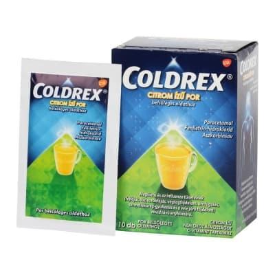 Coldrex citrom ízű por belsőleges oldathoz 10 db