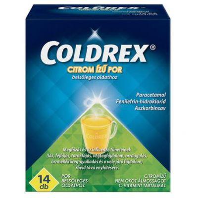 Coldrex citrom ízű por belsőleges oldathoz 14 db