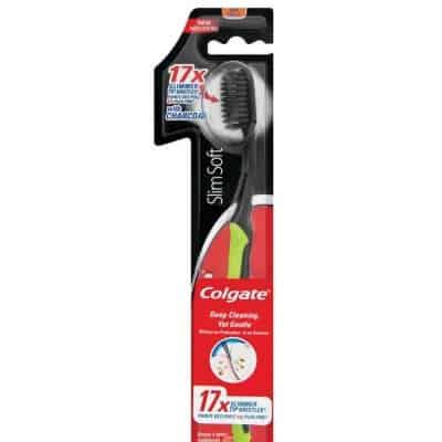 Colgate fogkefe slim soft charcoal 1 db