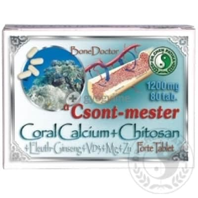 Dr. Chen Csont-mester coral calcium+chitosan forte tabletta 80 db