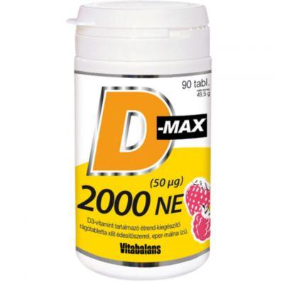 D-MAX D3 vitamin 2000 NE rágótabletta 90 db