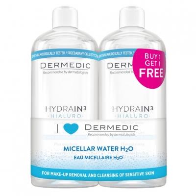 Dermedic Hydrain³ Micellás víz H²O 2x500 ml