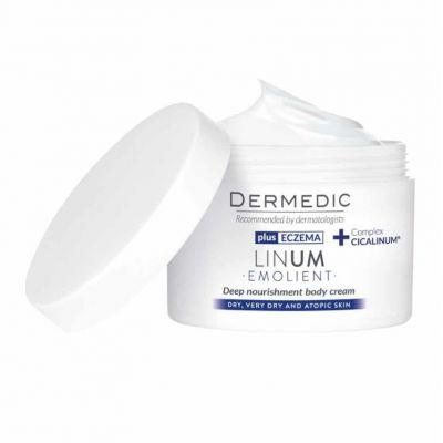 Dermedic Linum Emolient Gazdagon tápláló testápoló krém 225 ml