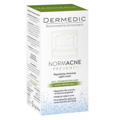 Dermedic Normacne Szabályozó és tisztító éjszakai krém 55 ml