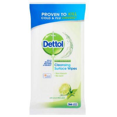 Dettol antibakteriális felülettisztító kendő lime-menta 36 db